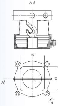 коробка потолочная л253