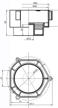 коробка установочная л256